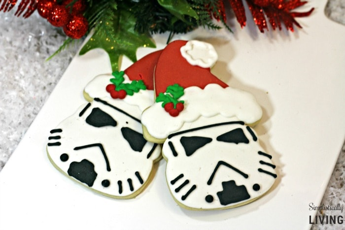 santa storm trooper cookies featured