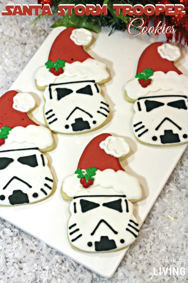 santa storm trooper cookies