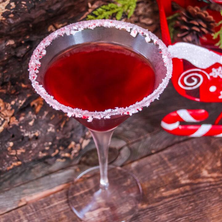 Cranberry Peppermint Martini