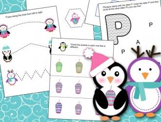 Penguin Lesson Pack Free Printable