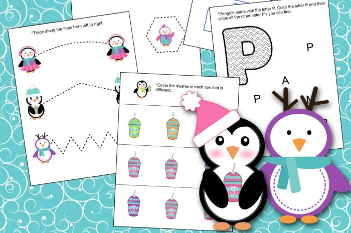 Penguins Lesson Pack free printable featured