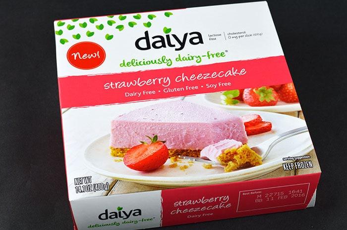 chocolate strawberry cheesecake daiya cheesecake