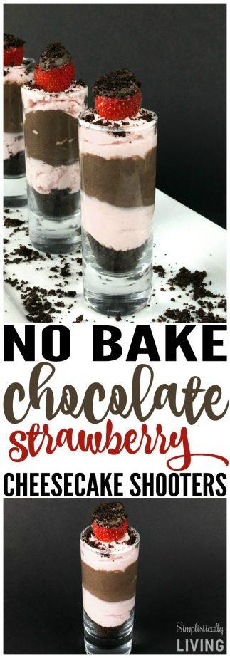 chocolate strawberry cheesecake shooters