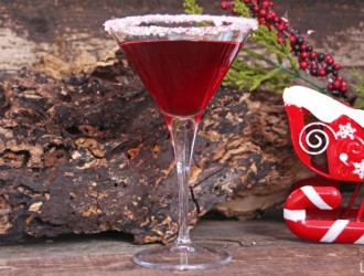 Cranberry Peppermint Martini