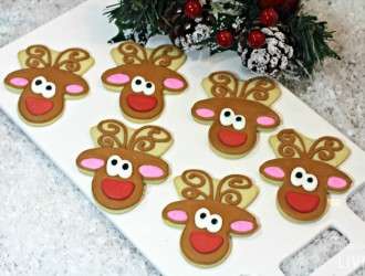 Homemade Reindeer Sugar Cookies