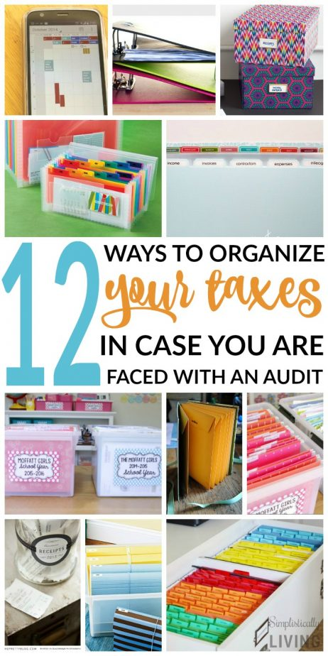 12 ways to organize taxes