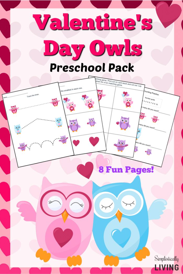 Valentine's Day Owls Lesson Pack