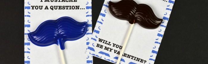 Mustache Valentines + Free Printable