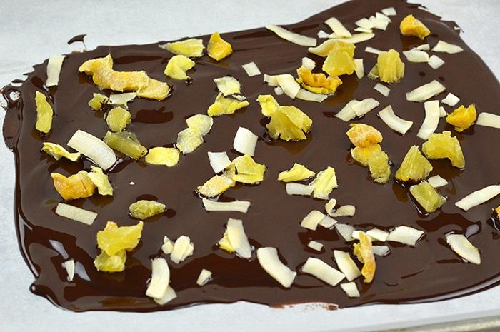 tropical chocolate bark step6