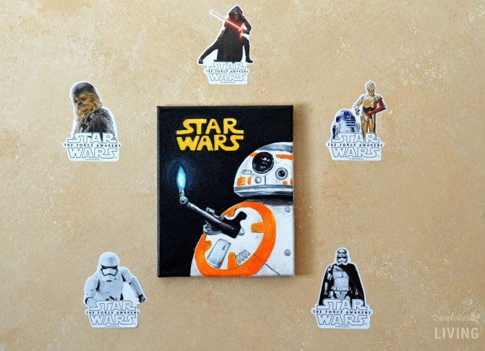 DIY BB-8 Painted Canvas Featured