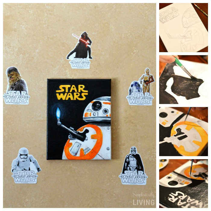 DIY BB-8 Painted Canvas2
