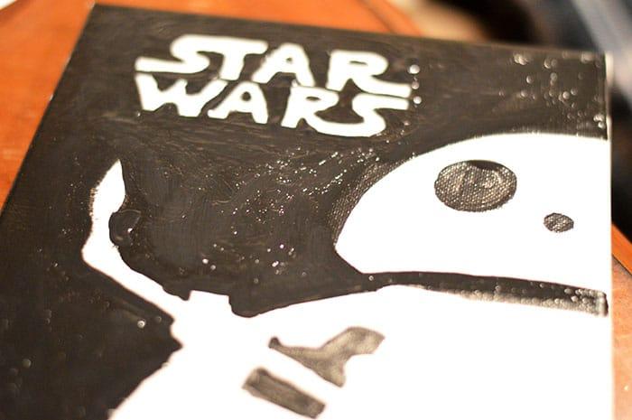 DIY BB-8 Painted Cavas Step3