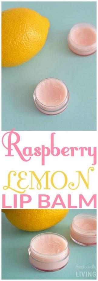 Raspberry Lemon Lip Balm #raspberrylemon #diylip #lipbalm #homemadelipbalm #homemadebeauty