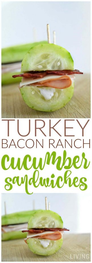 Turkey Bacon Ranch Cucumber Sandwiches