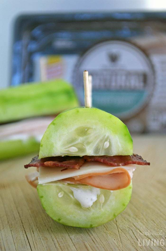 Turkey Bacon Ranch Cucumber Sandwiches2