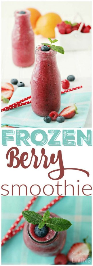 frozen berry smoothie