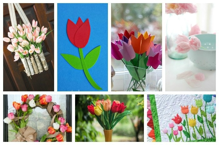 21 Adorable Tulip Crafts Featured