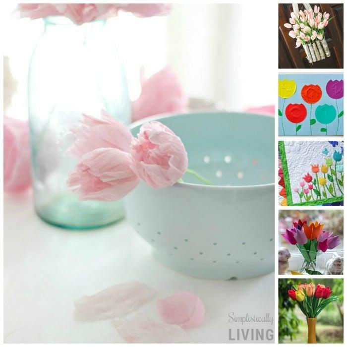 21 Adorable Tulip Crafts #tulip #tulipcrafts #spring #springcrafts