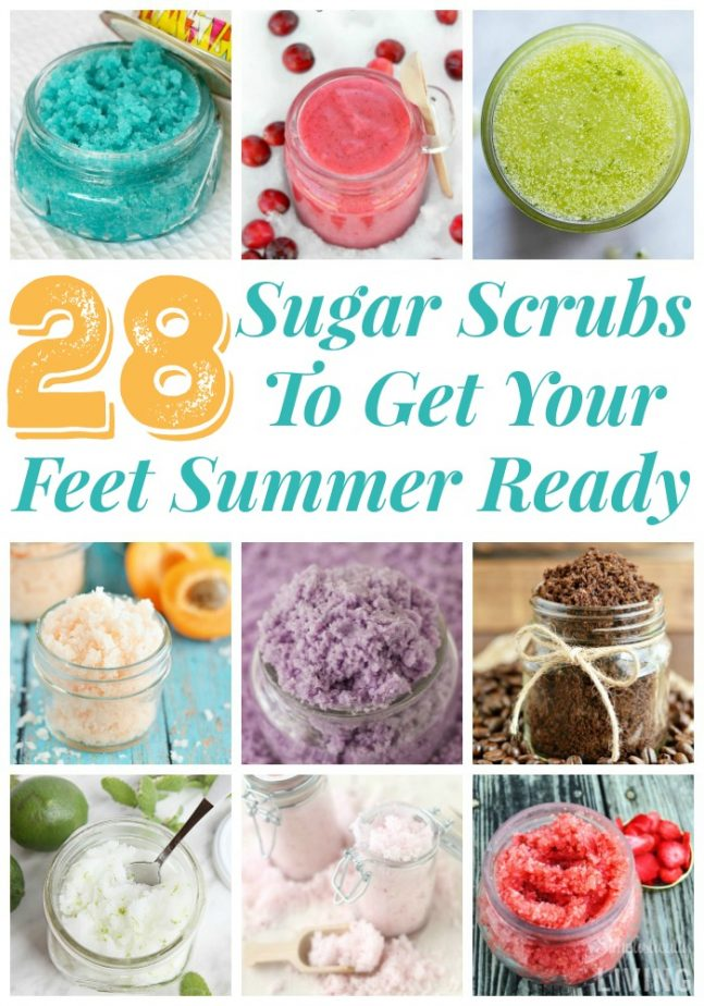28 Sugar Scrubs To Get Your Feet Summer Ready #sugarscrub #handmade #beautyproducts #homeremedy