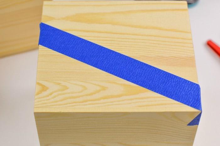 DIY Color Block Wood Planter Step2
