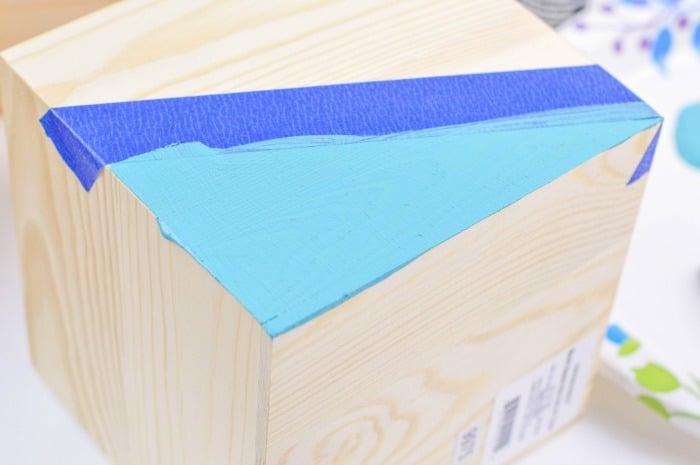 DIY Color Block Wood Planter Step3