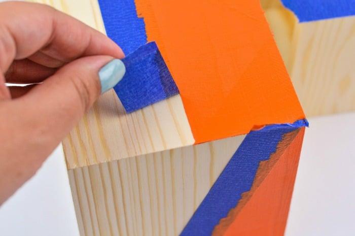 DIY Color Block Wood Planter Step6