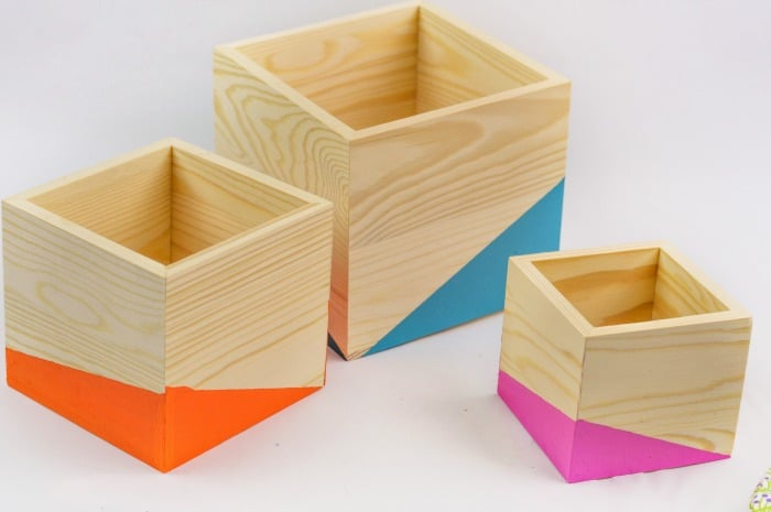 DIY Color Block Wood Planter Step7
