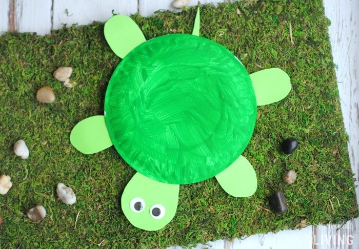 DIY Turtle Paper Plate Featured