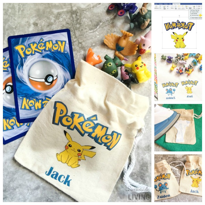 DIY Custom Pokemon Party Favor Bags Square