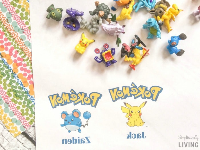 DIY Custom Pokemon Party Favor Bags step1