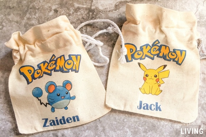 DIY Custom Pokemon Party Favor Bags step4