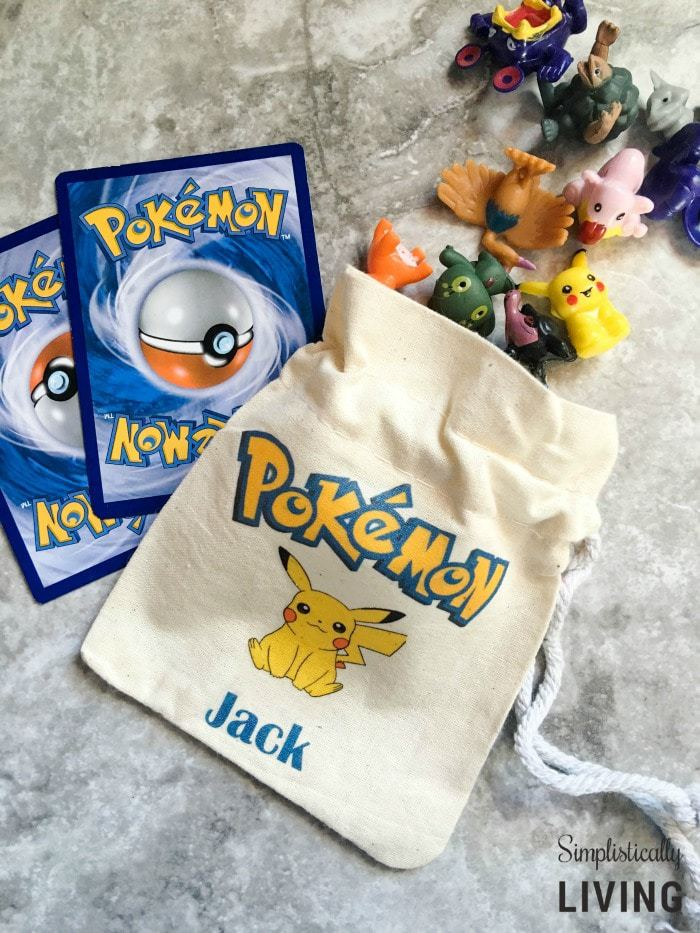 DIY Custom Pokemon Party Favor Bags3
