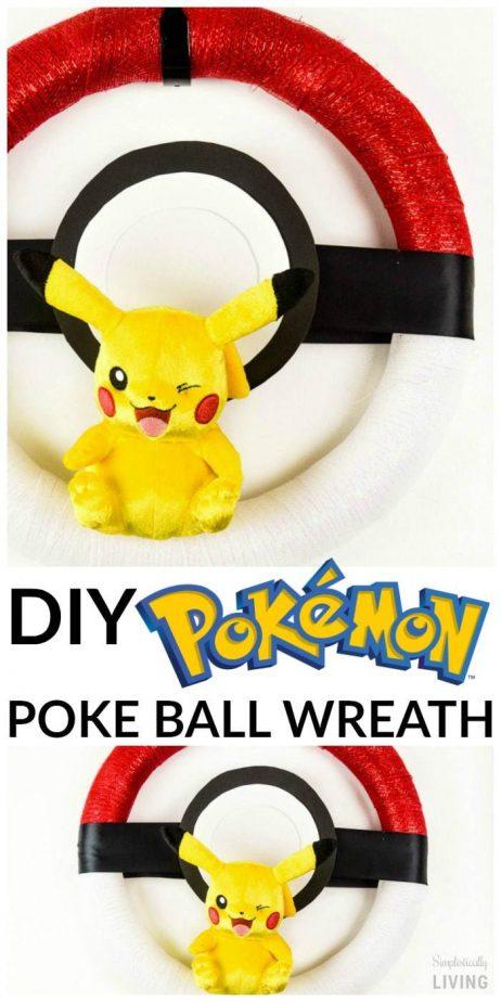 DIY Pokemon Poke Ball Wreath