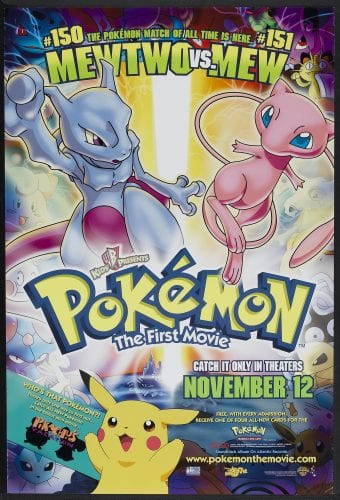 Pokemon The First Movie (Warner Brothers, 1999). One Sheet (27 X 40)