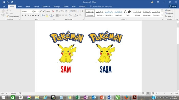 pokemon word document