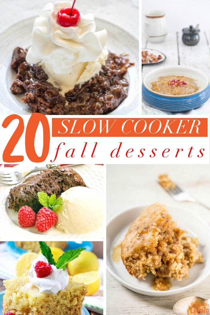 20 Slow Cooker Fall Desserts