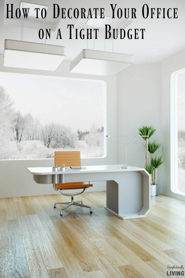 Office space archives simplistically living for Decorating living room on a tight budget