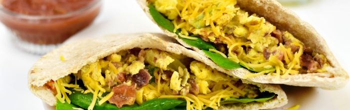 Loaded Breakfast Pita Pockets