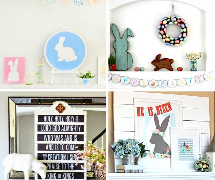 20 Exquisite Easter Mantel Decorating Ideas #easter #eastermantel #easterdecor #easterdecorideas