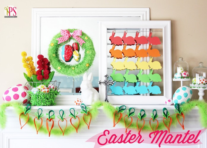 20 Exquisite Easter Mantel Decorating Ideas #easter #eastermantel #easterdecor #easterdecorideas