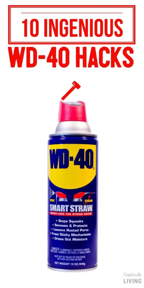 10 ingenious wd 40 hacks simplistically living for Wd 40 fish oil
