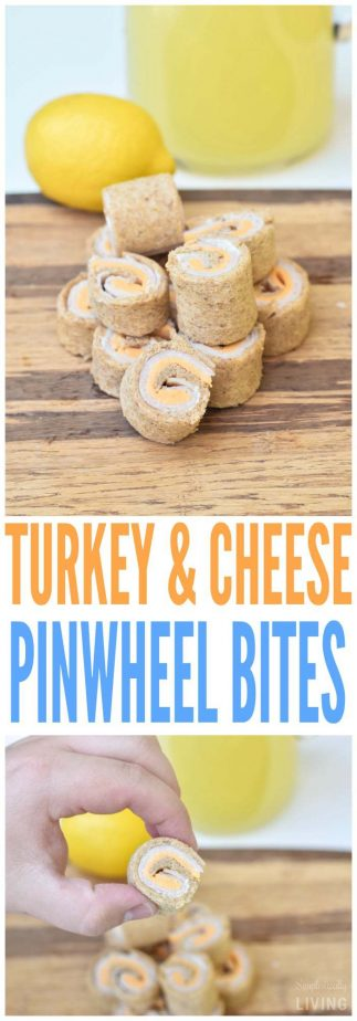 Turkey & Cheese Pinwheel Bites #turkey #cheese #pinwheelbites #pinwheels #recipes