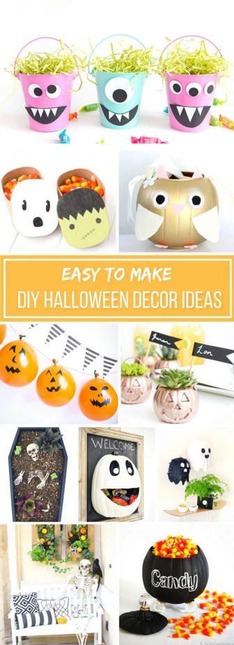 30 easy to make halloween decor ideas simplistically living. Black Bedroom Furniture Sets. Home Design Ideas
