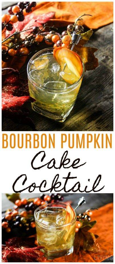 Bourbon Pumpkin Cake Cocktail #pumpkin #pumpkinspice #pumpkincocktail #octobercocktails #fallcocktails #cakecocktail