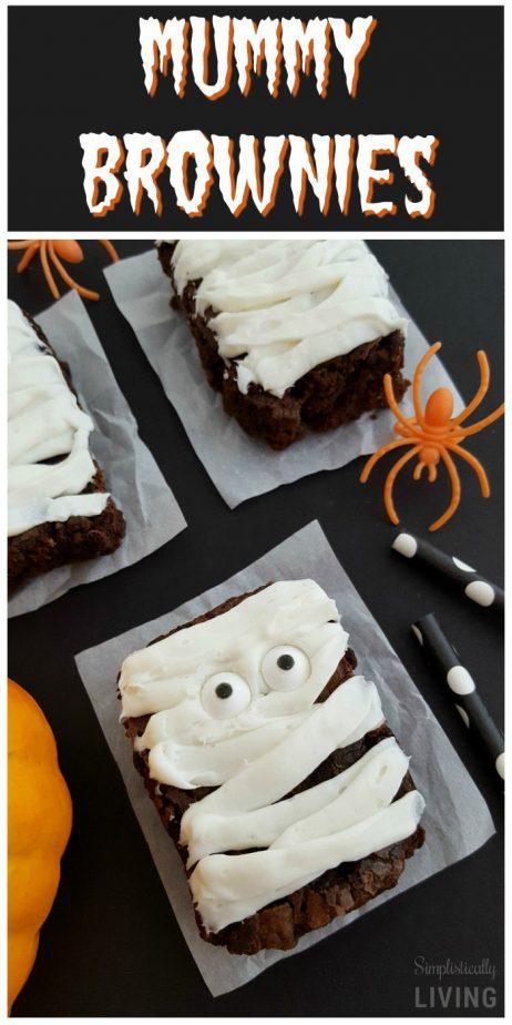 mummy brownies mummytreats mummybrownies mummy halloweentreats halloweenrecipes