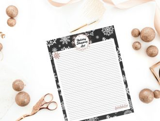 Free Holiday Shopping List Printable