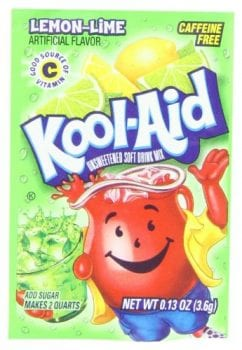lemon-lime kool-aid packet