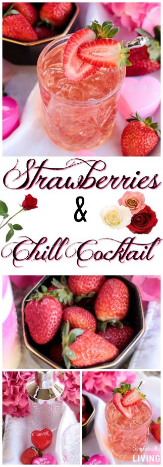 Strawberries & Chill Cocktail #strawberry #strawberrycocktail #cocktail #recipes #drinkrecipes