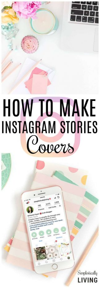 How to Make Instagram Stories Covers #instagram #howto #stories #covers #freeprintable