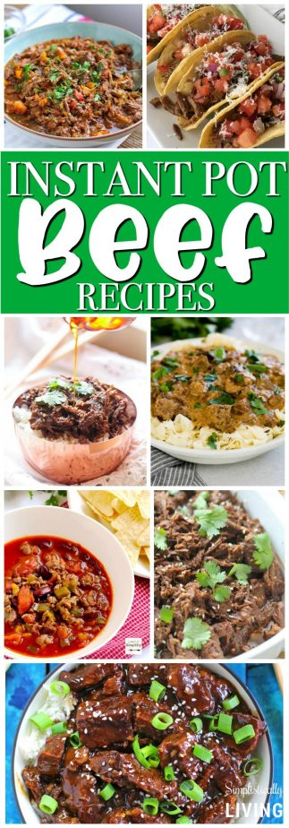 Instant Pot Beef Recipes #instantpot #instantpotrecipes #beefrecipes #instantpotbeef